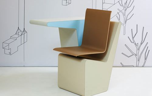 PROOFF #006 SideSeat Desk, Chair and Storage in One | Mobiliario .