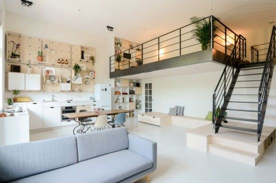 100-Year-Old Amsterdam Schoolhouse Becomes A Modern Loft (With .