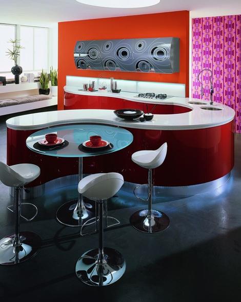 Contemporary Kitchen Design by Aster Cucine - Domina kitchen .