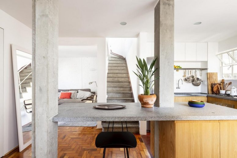 1950s Penthouse Renovated In Contemporary Style - DigsDi