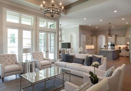 3 Tips To Unite The Kitchen And The Living Room Right | French .