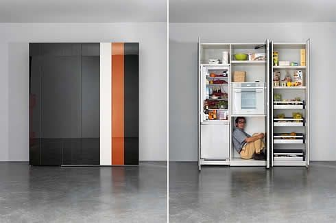 Kitchen 36E8: Futuristic Italian kitchen with Retro Shades .
