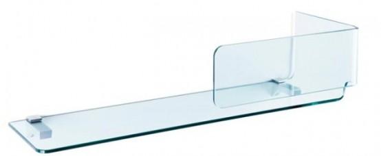 3D Foulard Shelves Of Transparent Glass - DigsDi