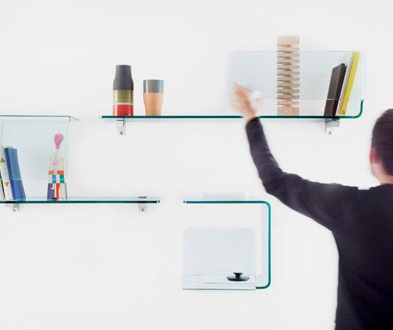 Modern Modular Shelves that Made of a Curved Glass – Foulard - The .