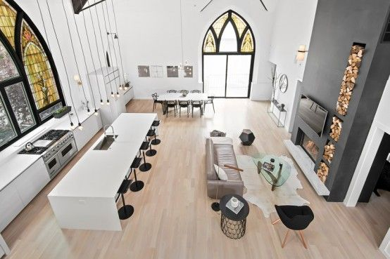 A Church Transformed Into An Eye-Catching Minimal Home .