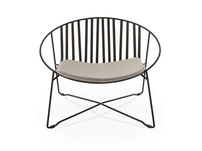 Garden armchair ELIPSE Hamptons Graphics Collection by Roberti .