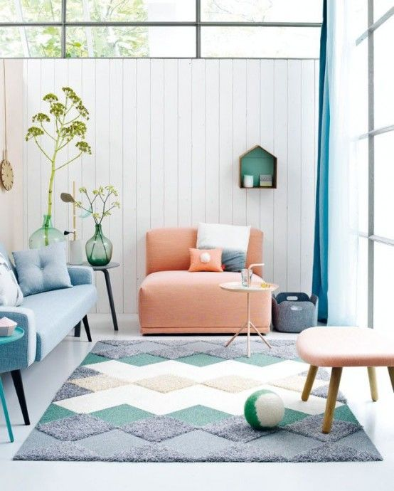 31 Affectionate Peach Accents In Home Décor | Home living room .