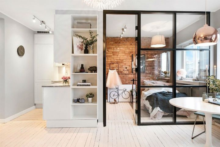 Small Scandinavian Apartment With Open and Airy Design | Decoholic .