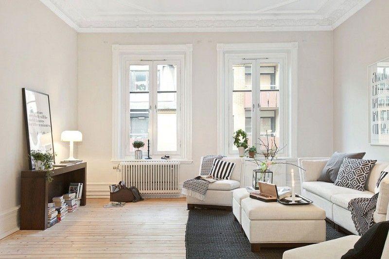 Scandinavian Design: Three Century Old Airy Apartment in .