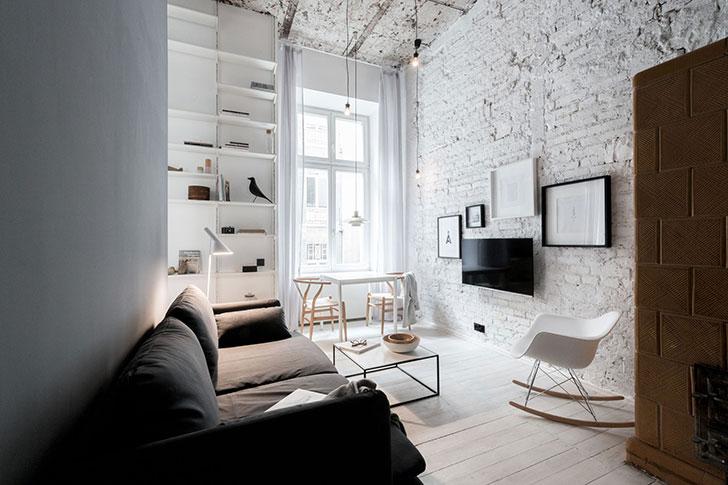 Airy Scandinavian apartment in Poland (35 sqm) 〛 ◾ Фото ◾Идеи .