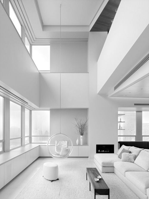 All Shades Of White: 30 Beautiful Living Room Designs - DigsDi