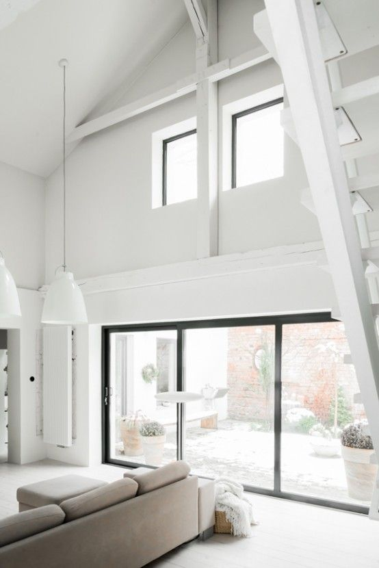 All-White Mid-Century Modern Home With A Scandi Feel (With images .
