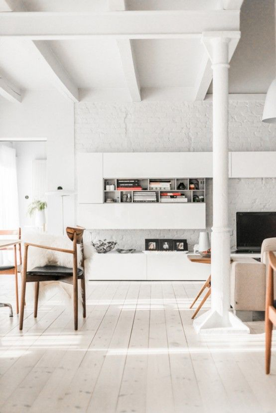 All-White Mid-Century Modern Home With A Scandi Feel | Home .