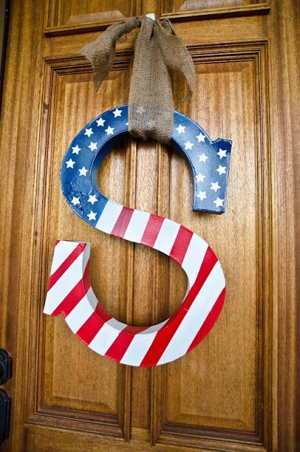 60 Amazing 4th July Wreaths For Your Front Door | DigsDigs | 4th .