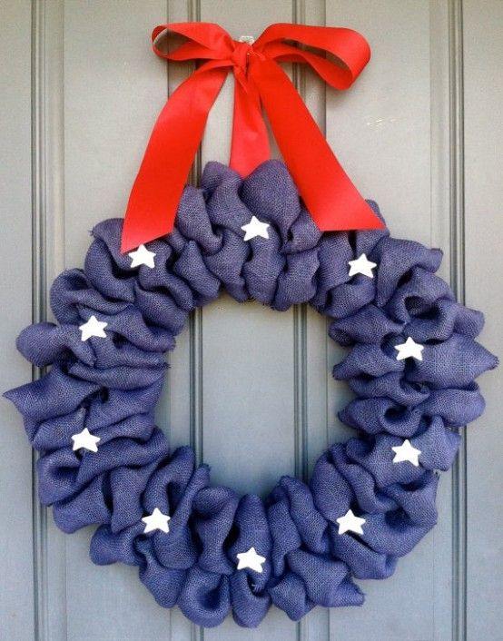 60 Amazing 4th July Wreaths For Your Front Door | Wreath crafts .