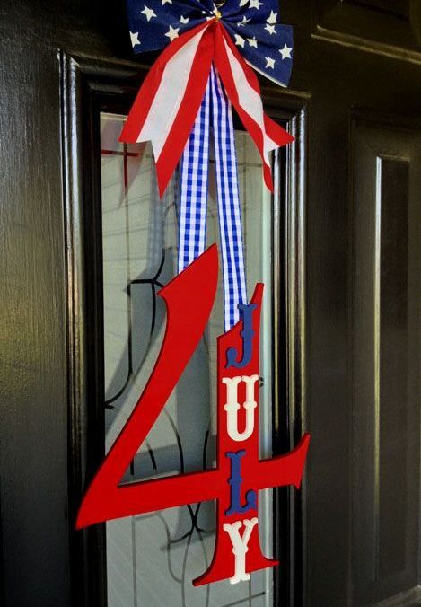 60 Amazing 4th July Wreaths For Your Front Door | 4th of july .
