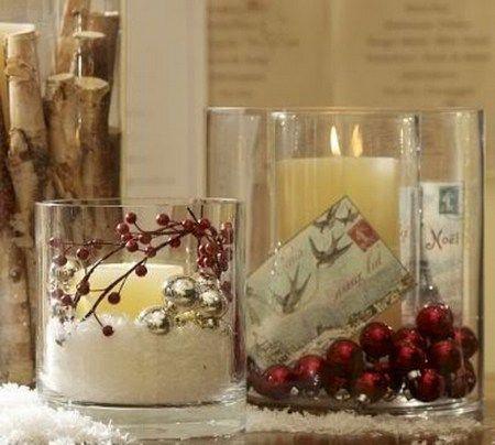 Χριστουγεννιάτικες ιδέες με κεριά και κηροπήγια | Christmas candle .