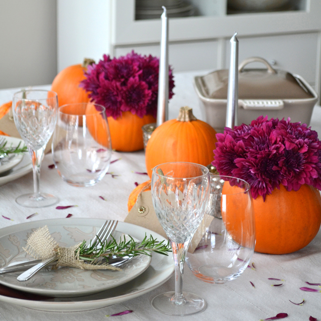 Simple Ideas for a Thanksgiving Table Setting - A Pretty Life In .