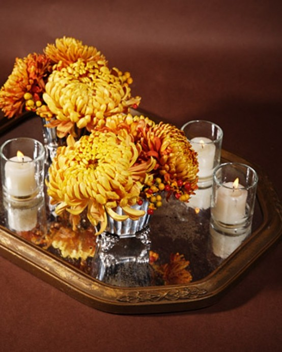 42 Amazing Flower Decorations For A Thanksgiving Table - DigsDi