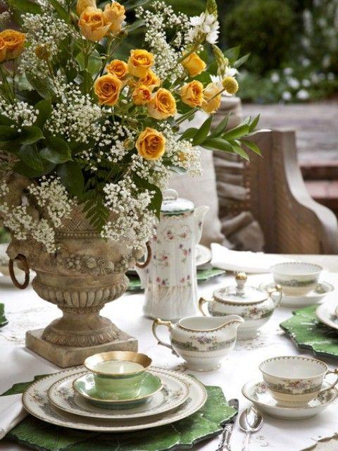 Amazing Old European Style Garden And Terrace Design   Tea party .