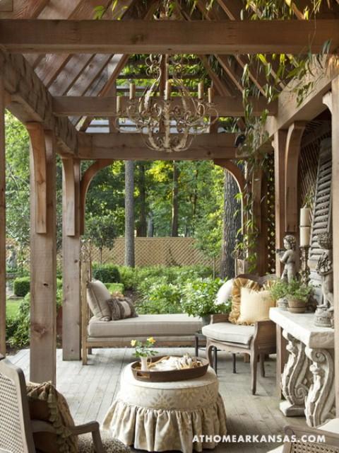 Amazing Old European Style Garden And Terrace Design - DigsDi