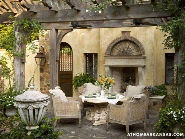 Amazing Old European Style Garden And Terrace Design   Beautiful .