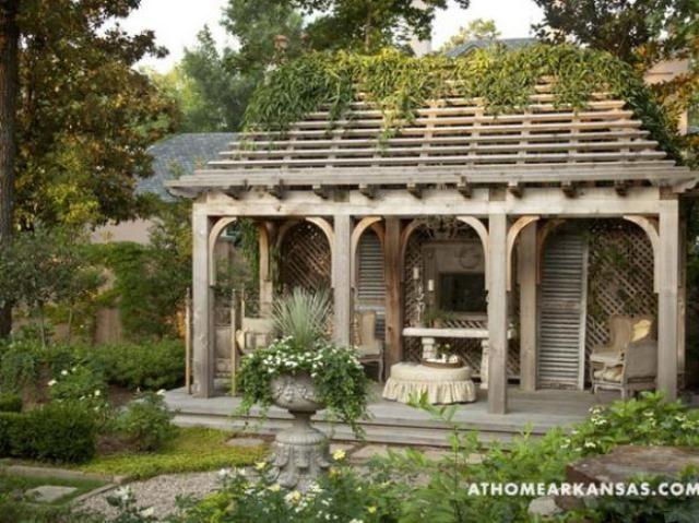 Amazing Old European Style Garden And Terrace Design   Pergola .