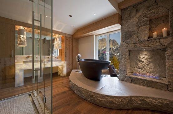 35 Amazing Raw Stone Bathroom Design Ideas   Natural stone .