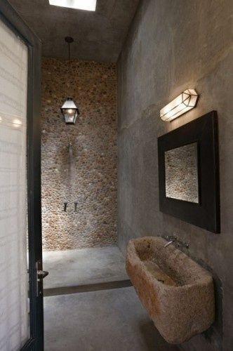 35 Amazing Raw Stone Bathroom Design Ideas   Mediterranean .