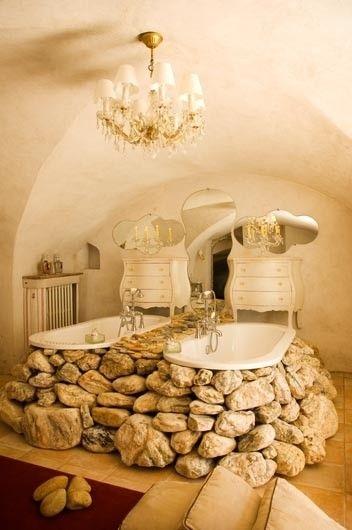 35 Amazing Raw Stone Bathroom Design Ideas   DigsDigs   Stone .