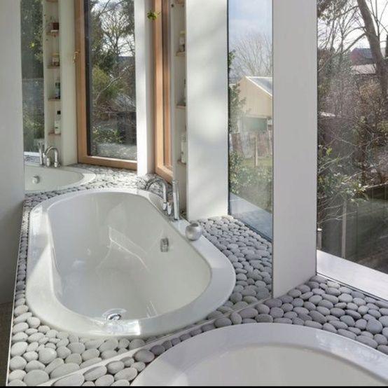 35 Amazing Raw Stone Bathroom Design Ideas   Stone bathroom .