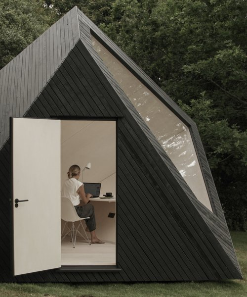 koto's angular timber cabin provides the ideal space for remote .