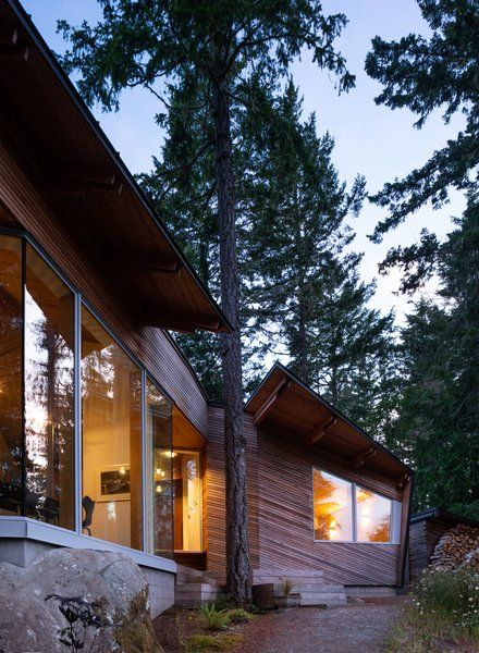 Photo 1 of 14 in An Angular Cabin Is Perfectly Poised to Soak Up .