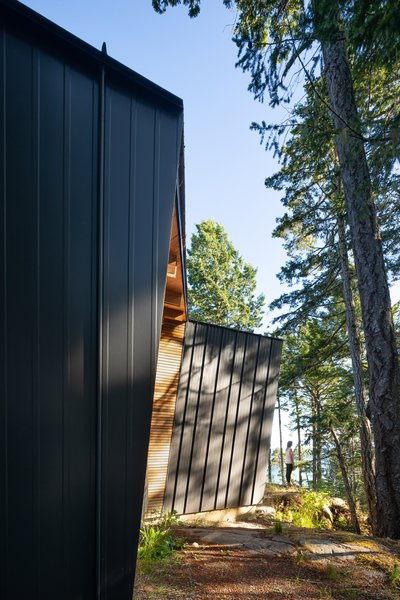 Photo 1 of 1903 in Exterior Metal Photos from An Angular Cabin Is .