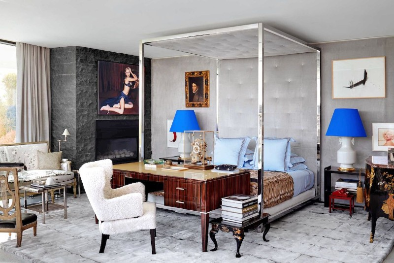 A Beverly Hills Home Goes From Antique Accents to a Contemporary Dec