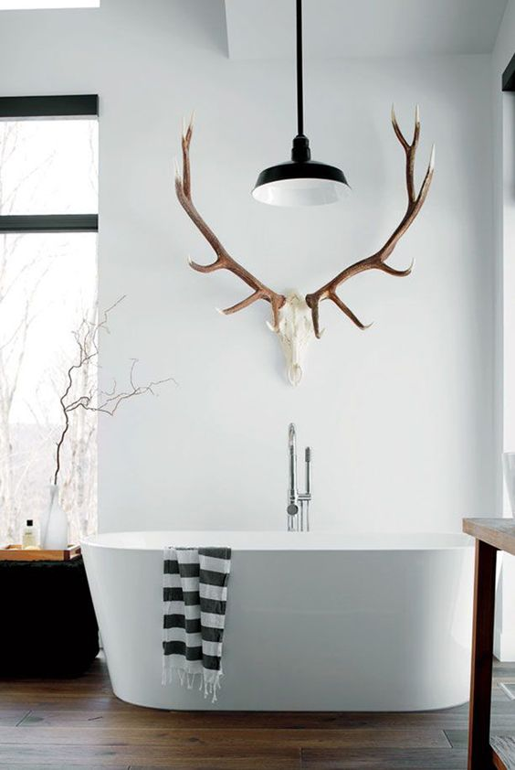 28 Cool Ways To Use Antlers In Home Décor - Shelterne