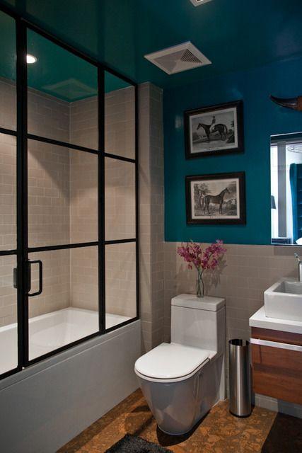 black shower framing | House design, Home decor, Bathtub doo