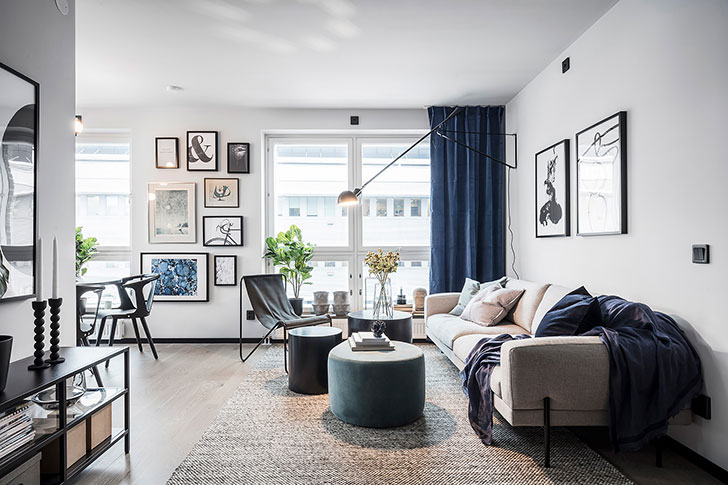 Touches of deep blue in Scandinavian home 〛 ◾ Фото ◾Идеи◾ Дизай