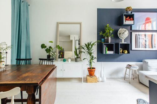 Studio with blue touches Follow Gravity Home: Blog - Instagram .
