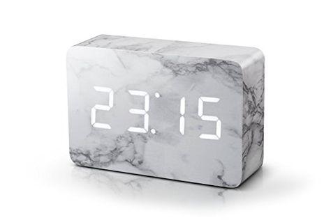 Click Clock Brick Marble Clock White LED   Natural home decor .