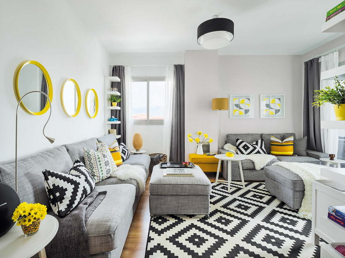 Vivacious Malaga Apartment Design With IKEA Furniture And Juicy .