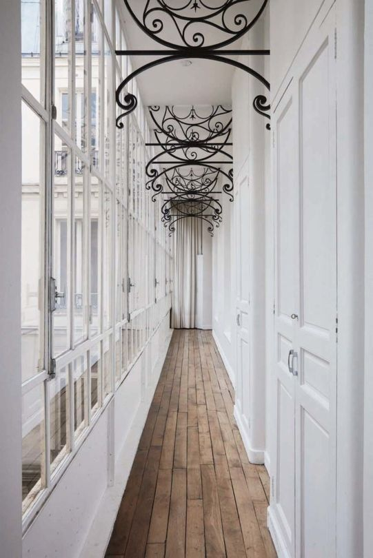 Vintage Paris Apartment With Eclectic Features | French house .