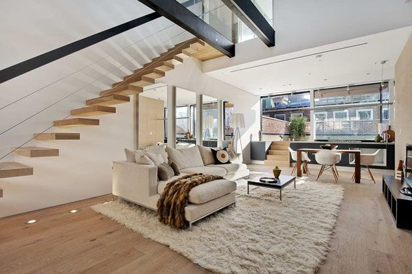 white living room | Drømmehjem, Fremtidige hus, Sweet ho