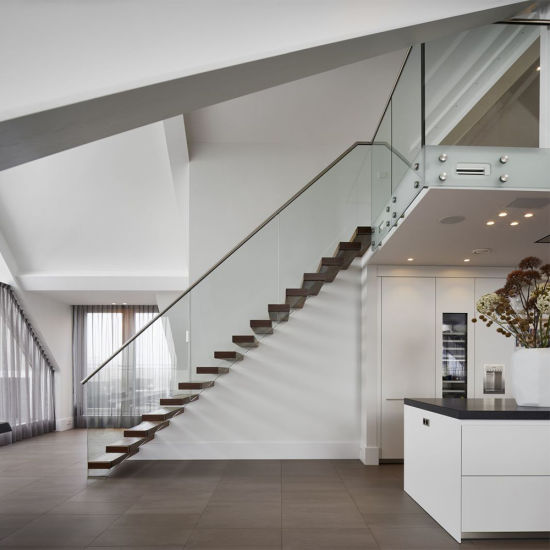 China Apartment Usage Interior Hardwood Floating Stair - China .