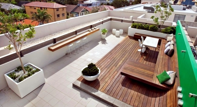Townhouse roof offers several entertainment   Interior Design .