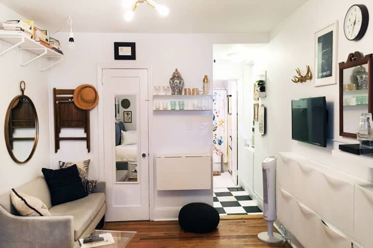 A Teeny 225-Square-Foot Studio Has All the Small Space-Saving .