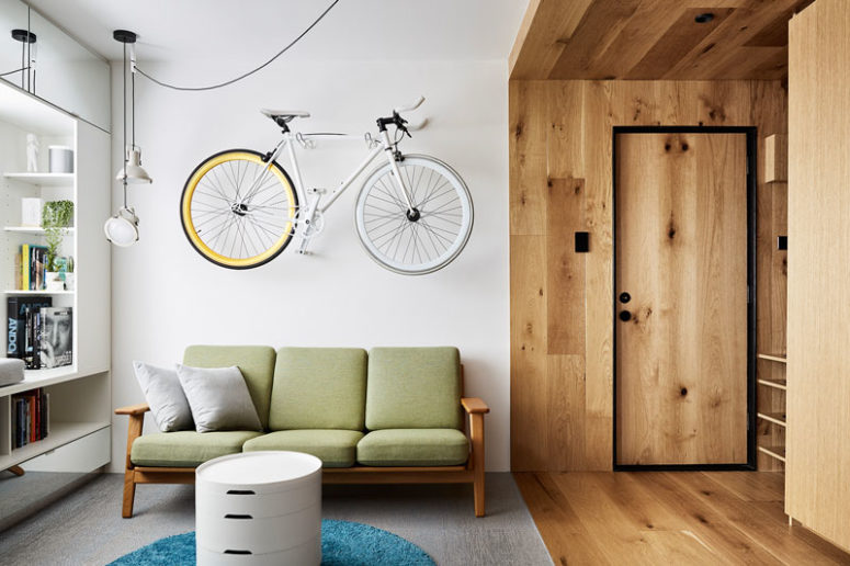 Small Apartment With Lots Of Hidden Design Elements - DigsDi