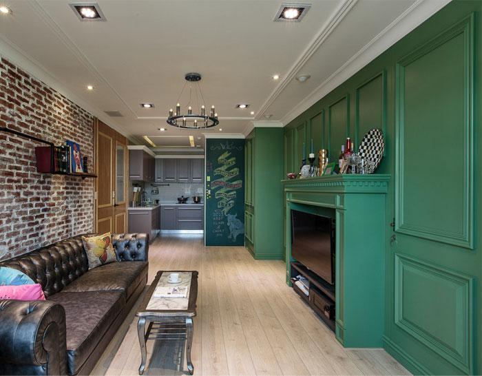Intense Green Apartment Decor - InteriorZi
