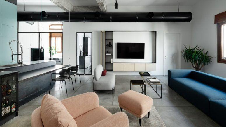Minimalist Apartment With A Subtle Playful Feel | Modern loft .