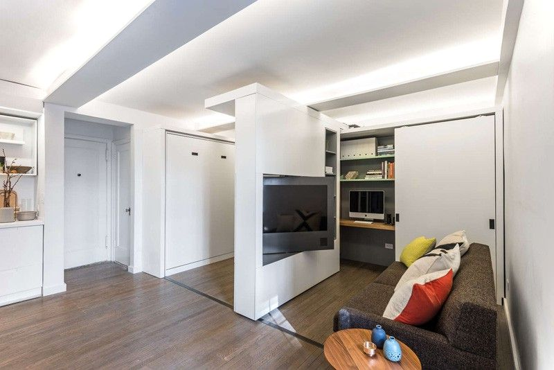 37 Square-meters Apartment With Moving Wall Design - Small House Dec